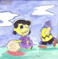 Lucy vs. Charlie Brown by Robomonkey82