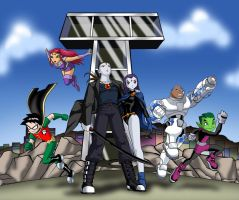 Teen Titans and Aenoch by bbmbbf