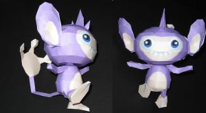 Aipom - Papercraft by Sabi996