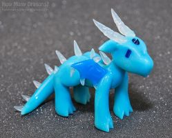 Rainbow Elementals: Ice Dragon by HowManyDragons