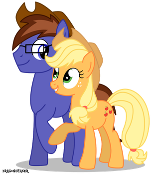Applejack And Swift Gearheart Commission by DragonChaser123