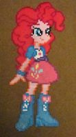 Pinkie Pie Equestria Girls perler craft by Pika-Robo