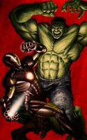 HULK and IRONMAN by illustr8now