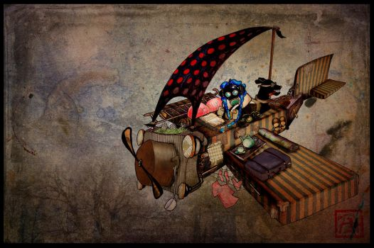 My flying home by Zixi
