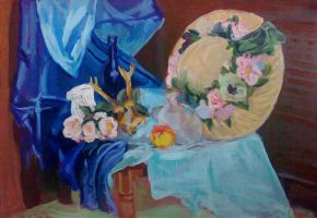 Still Life with Hat by Silvestris9