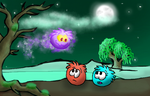 A ghostly puffle meeting by Copanel-CP