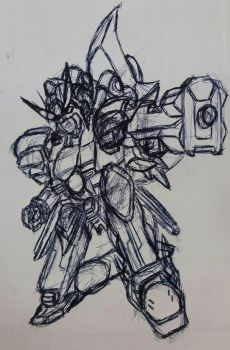 Gundam Shooting Sketch  by Newtypemo