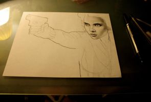 Avengers: Black Widow WIP by artbyjoewinkler