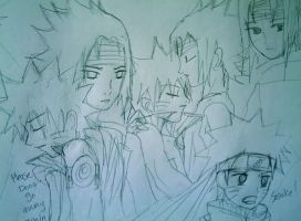 SasuNaru Sketch 2 by rrs