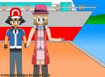Ash and Serena goes attitude at the Another Port by scottytheshieldguy