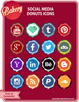 Social Media Donuts Icons for sale by MikhaelLochan