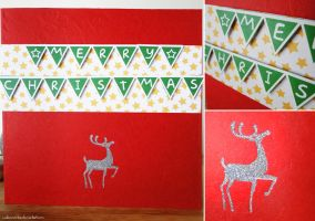 Handmade Christmas Card [Reindeer] by cakecrumbs