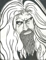 Rob Zombie Black And White by hereisevil2