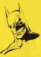 Batman stencil by warholstein