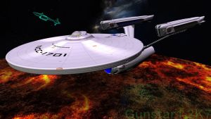 Enterprise and the ghost by gunstar1