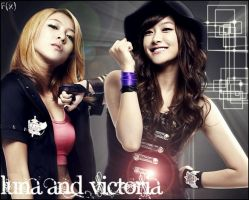 F(x) Luna and Victoria Wallpaper by SNSDLoveSNSD