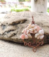 Pink Peruvian Opal Tree of Life by SerenityWireDesigns