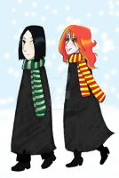 Snape and Lily by Jackie-the-druid