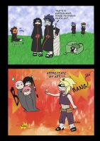 Deidara Conquers HELL by thegeekpit