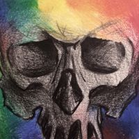 Sketch of a skull by MarcoHauwert