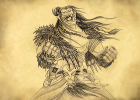 Furious Orc by Dralascordia