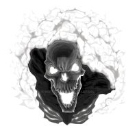 Black skeleton. Isolated vector illustration by neptune82