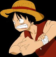 Luffy angry by kon1495