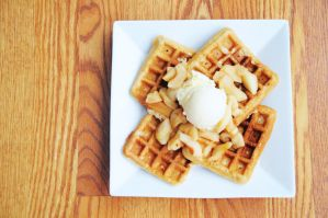 Whole Wheat Apple Flax Waffles by TantalizedBaker