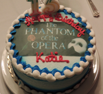Phantom of the Opera Birthday Cake by SasukeUchihable