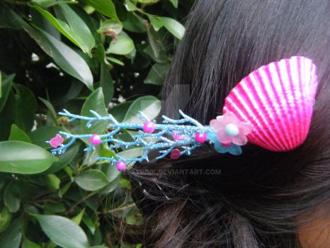 Sirene d amour pink seashell comb by messypink