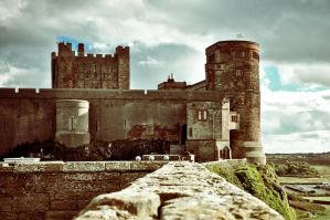 Bamburgh Castle III by scribbleXcore