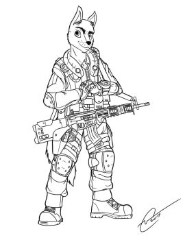 Commission: Jackal Lineart by Chris000