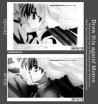 Draw This Again - 26/05/13 and 26/10/13 - Pencil by anime-master-96