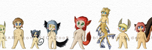 Animabibbles Characters 1 by Yurbleyurble13