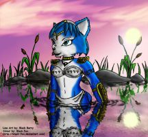 Krystal in Water by Black-Fox