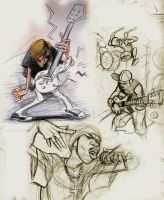 music Makers sketches by heckthor