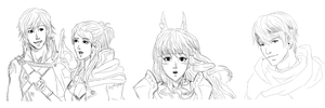 Fire Emblem Awakening Sketch Dump by RoyLover