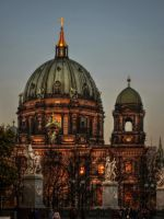 Sunset on Berlin Cathedral by pingallery