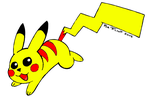 Picachu colored by R8TED-R