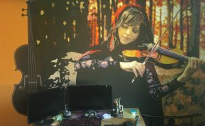 Lindsey Stirling Wall Painting by MilanRKO