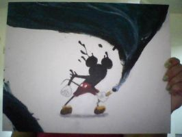The REAL Epic Mickey painting by GalacticRainbow