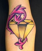 Yellow Diamond by EricScsavnickiTattoo