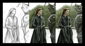 Catelyn Stark (Tully) by Tiearius