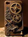 steampunk iphone4 case by kacchao