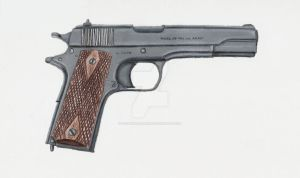 45 ACP Colt M1911 Pistol by stopsigndrawer81