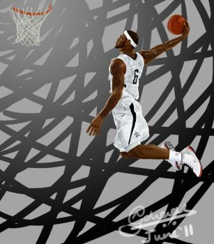 LeBron James, a consolation. by Krazmuth
