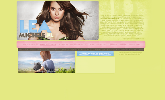 Lea Michele Spring Layout 3.0 by Imfearless