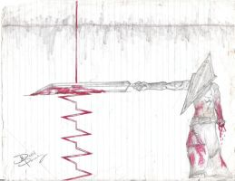 Pyramid Head Stopping Life by Classicocartoons