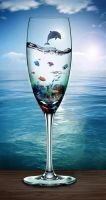 A Glass of Ocean Life by Tribalchick101