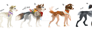 Dog Adoptables (CLOSED) by tuliplou